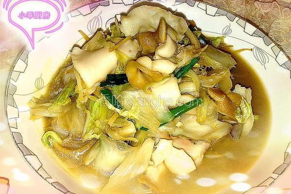 海螺炒白菜