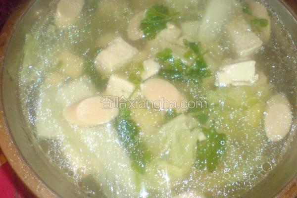 白菜豆腐清汤