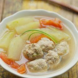 冬瓜番茄肉丸汤的做法[图]