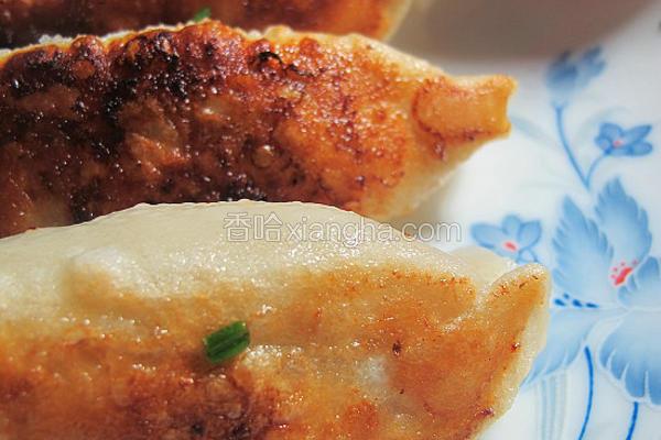 圆白菜鲜肉锅贴