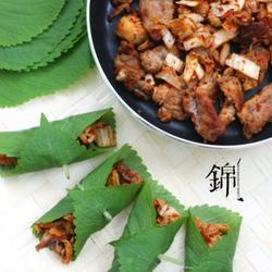 苏叶辣白菜烤肉包的做法[图]