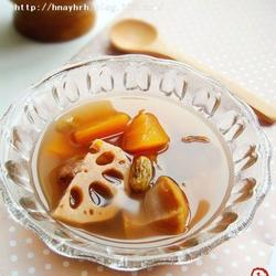 木瓜莲藕栗子甜汤的做法[图]