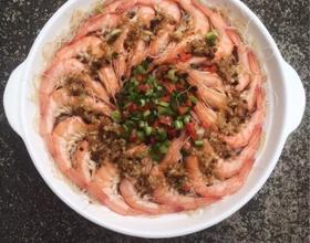 蒜蓉粉丝蒸虾[图]