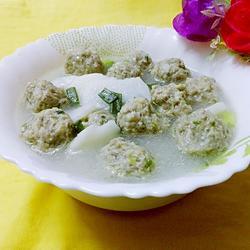 淮山肉圆汤