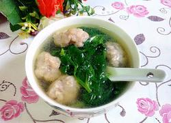 豆苗肉丸汤