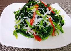 菠菜拌粉丝