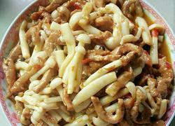 白玉菇炒肉