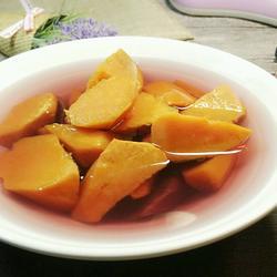 姜汁番薯糖水(淡紫色)