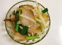 蒜苗腊肉炒土豆丝