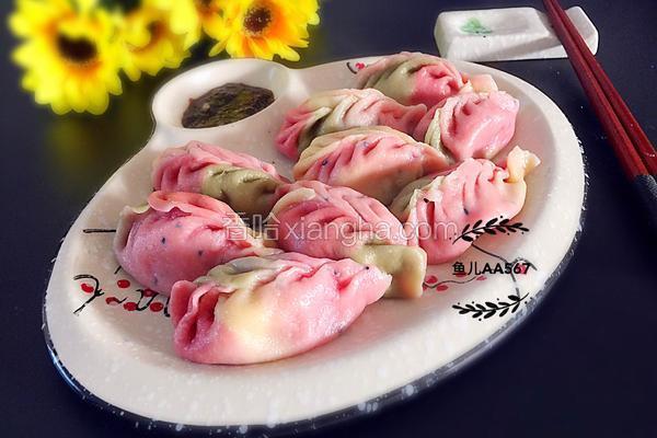 彩色水饺(猪肉蒜苗馅)