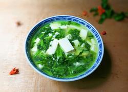 清香茼蒿豆腐