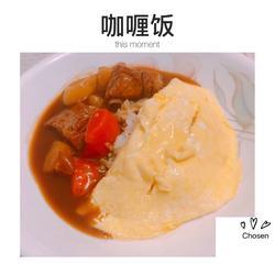 咖喱猪小排蛋包饭