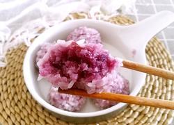 紫薯珍珠丸子