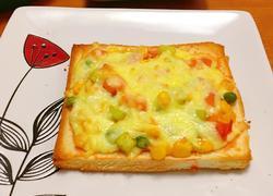 简单美味的土司披萨