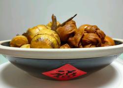酱蹄汤烧茨菇酱蛋百叶结