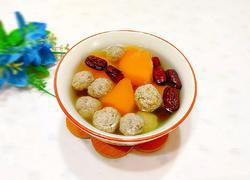 南瓜牛肉丸子汤