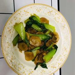 青菜炒元蘑