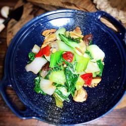 杂蔬炒小白菜的做法[图]